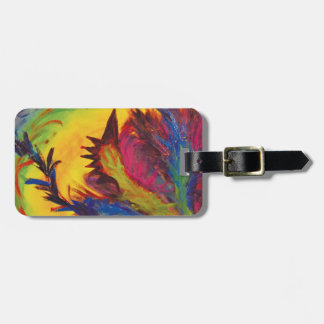 Bright Artistic Abstract Design Luggage Tag