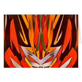 Bright Artistic Flaming Sword Abstract Card