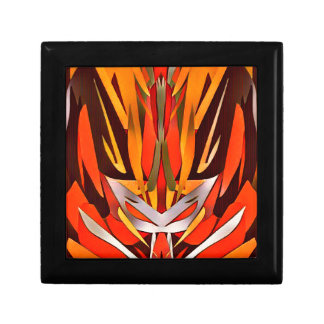 Bright Artistic Flaming Sword Abstract Gift Box