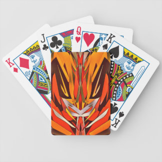 Bright Artistic Flaming Sword Abstract Poker Deck