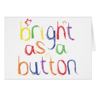 Bright as a Button - Congratulations Card
