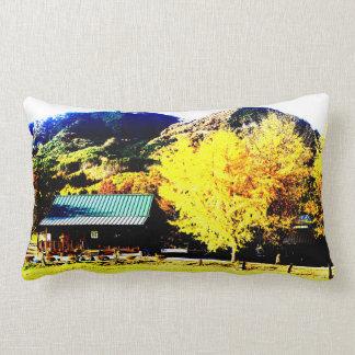 Bright autumnal weather* Photograph processed Lumbar Pillow