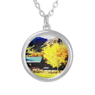 Bright autumnal weather* Photograph processed Silver Plated Necklace