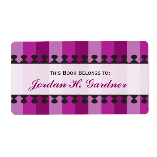 Bright Awnings Purple Bookplates Shipping Label