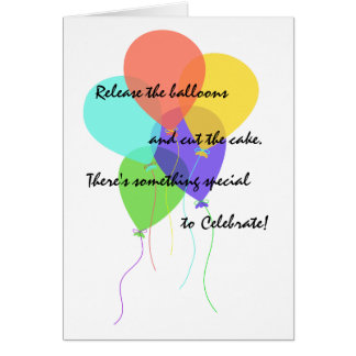 Bright Balloons Add Name & Age Birthday Greeting Card
