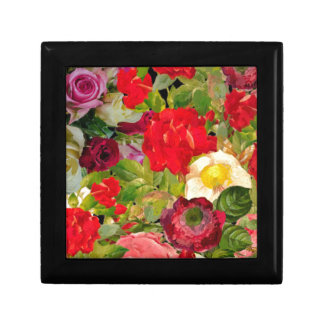 Bright Beautiful Flower Collage Trinket Boxes