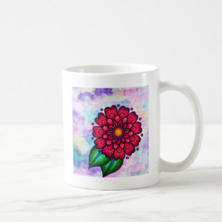 Bright beautiful watercolor flower coffee mug