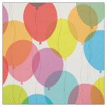Bright Birthday Balloons Fabric