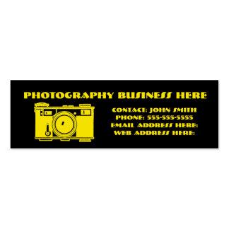 Bright Black & Yellow Retro Film Camera Mini Business Card