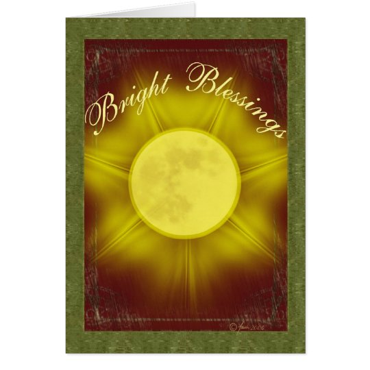 Bright Blessings Holiday Card