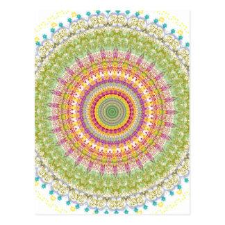 Bright Blessings Mandala Postcard