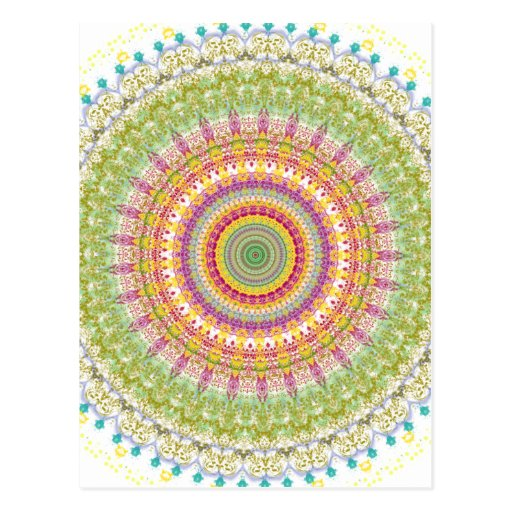 Bright Blessings Mandala Post Cards