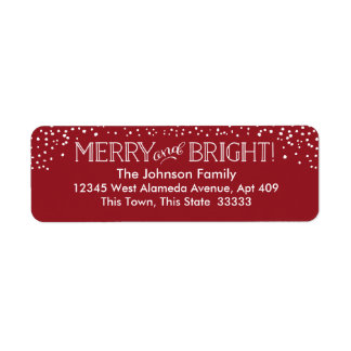 Bright Blizzard | Return Address Label