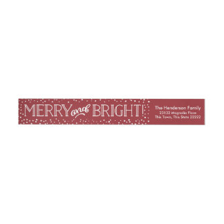 Bright Blizzard | Return Address Wrap Labels
