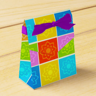 Bright Block Floral  Pattern Gift Boxes