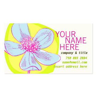 Bright Bloom Profile Card Double-Sided Standard Business Cards (Pack Of 100)