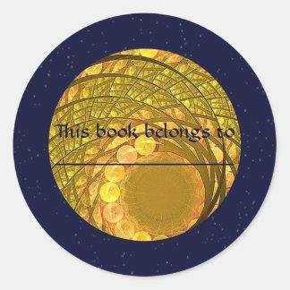 Bright Blossom Moon Classic Round Sticker