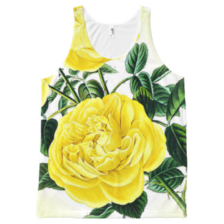 Bright Blossoms All-Over Printed Unisex Tank