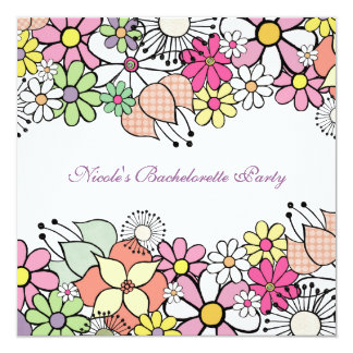 Bright Blossoms Bachelorette Party Invitation