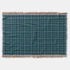 Bright Blue and Green Clan Miller Scottish Tartan Throw Blanket