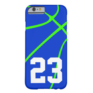 Bright Blue and Neon Green Basketball Phone Case