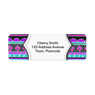 Bright Blue and purple tribal pattern