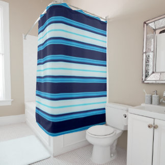 Bright Blue and Teal Striped Nautical Inspired