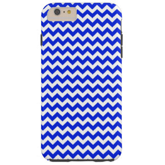Bright Blue and White Chevron Tough iPhone 6 Plus Case