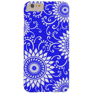 Bright Blue and White Floral iPhone 6 Plus Case