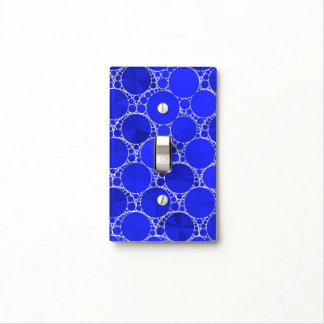 Bright Blue Bling Light Switch Cover