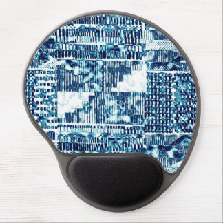 Bright Blue Bold Boshi Shibori Block Modern Gel Mouse Pad