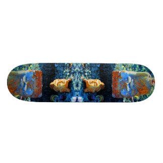 Bright Blue Buddha Skateboard