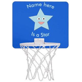 Bright Blue Celebration Star Basketball Hoop