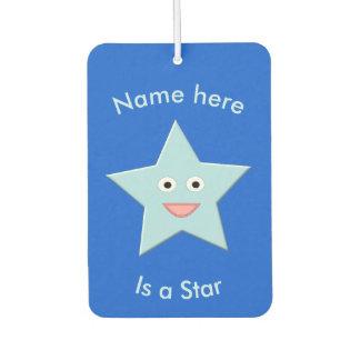 Bright Blue Celebration Star Custom Air Freshener