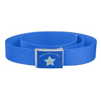 Bright Blue Celebration Star Custom Belt