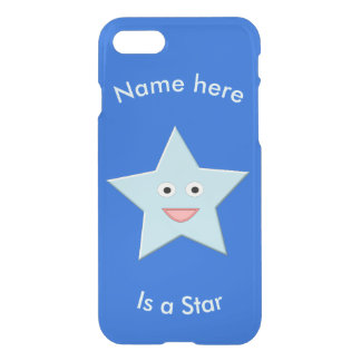 Bright Blue Celebration Star Custom iPhone Case