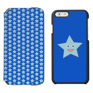 Bright Blue Celebration Star iPhone Case Incipio Watson™ iPhone 6 Wallet Case