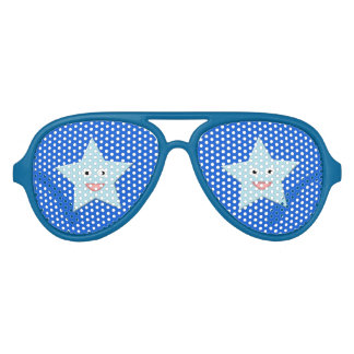 Bright Blue Celebration Star Party Shades