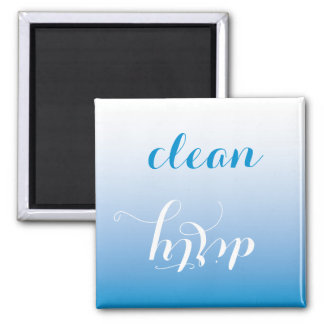 Bright Blue Clean or Dirty Dishwasher Magnet