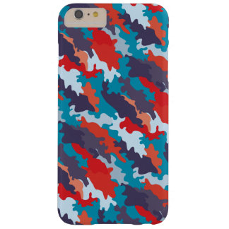 Bright blue color style camouflage pattern barely there iPhone 6 plus case