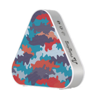 Bright blue color style camouflage pattern speaker