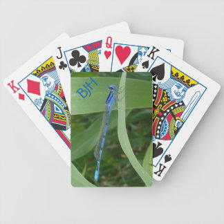 Bright Blue Damselfly Premium Playing Cards