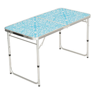 Bright Blue Dream root Beer Pong Table