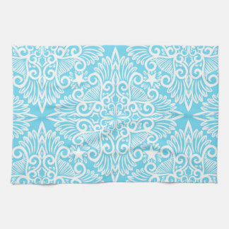 Bright Blue Dream root Kitchen Towel