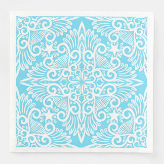 Bright Blue Dream root Paper Napkins