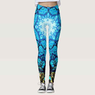 Bright Blue Energy Leggings