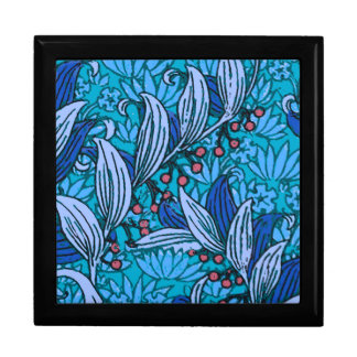 Bright Blue Floral Pattern Gift Box