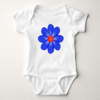 Bright Blue Flower for Baby Baby Bodysuit