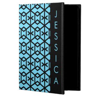 Bright Blue Geometric Pattern iPad Air Cases