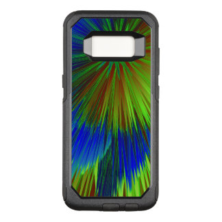 Bright Blue Green Star Burst OtterBox Commuter Samsung Galaxy S8 Case